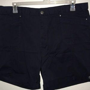 Counterparts woman shorts navy blue Sz 16